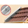 Application image of insulation screw IPS-H 55: Wall connection profile on canopy
