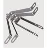 Bendable metal support EM
