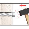 Plastic bag cable tie wall plug TB