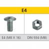 Metal shelve metric screw E4