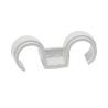 Double plastic conduit clip FPD for gas nailer