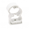 Product image of plastic clamp Abranyl ABT white