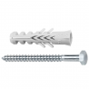 Product image of standard plug F with hex-head wood screw