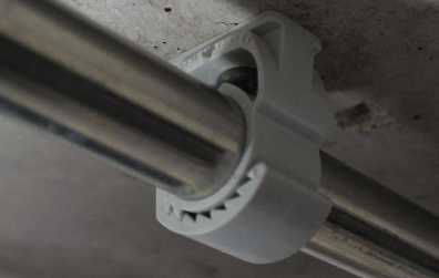 Installation with clamps
